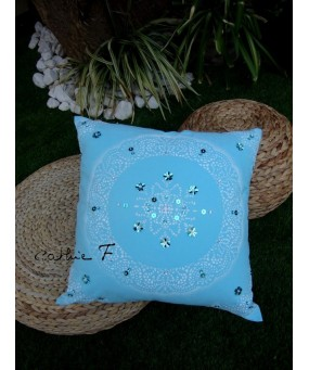 Coussin paillettes BOLLYWOOD