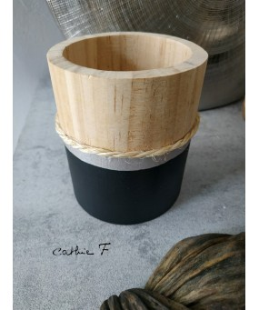 Pot en bois BLACKY