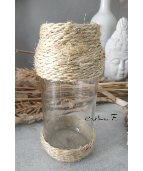 Vase corde TRANSPARENT