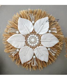 Juju hat blanc en raphia...